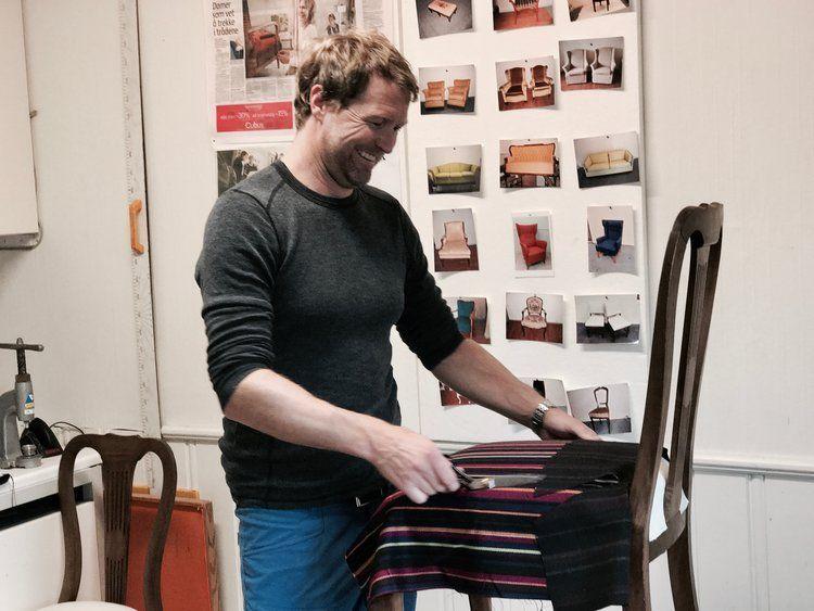Per Wilberg er møbeltapeserern i Paradiskrysset